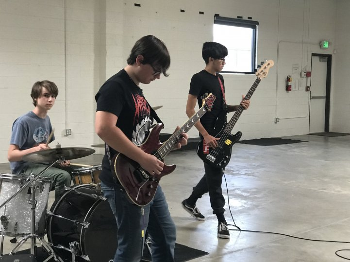 HS Band practice