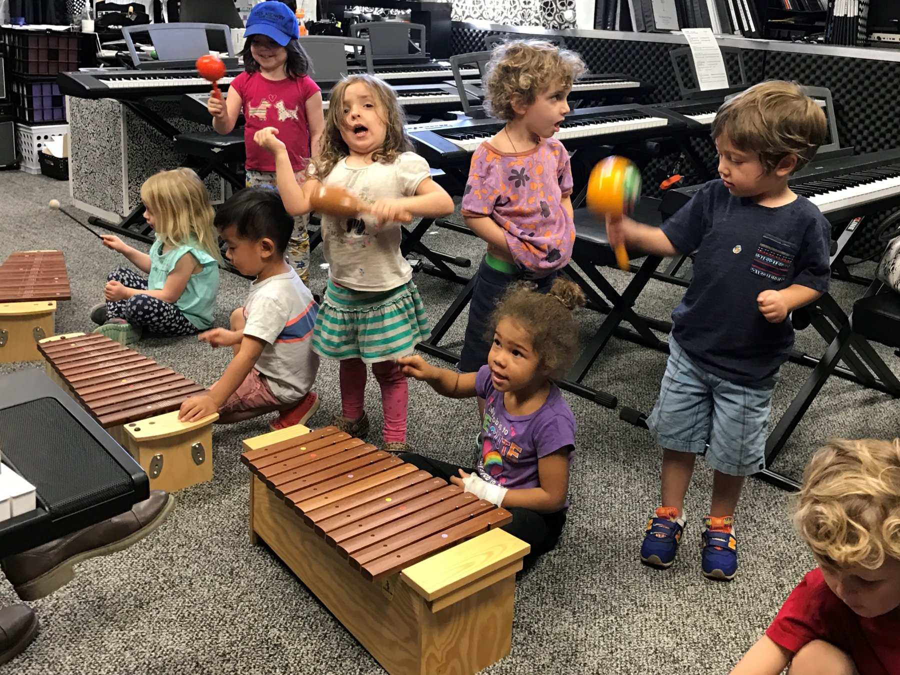 Preschool music studio instruments