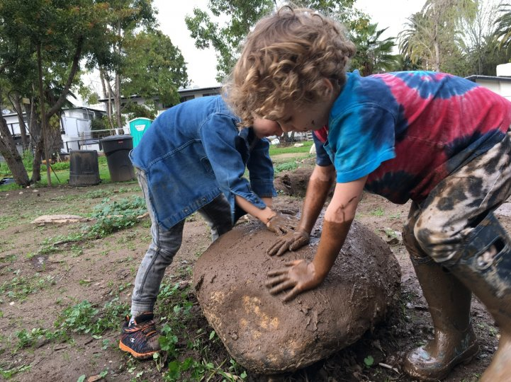 Preschool farm mud rock