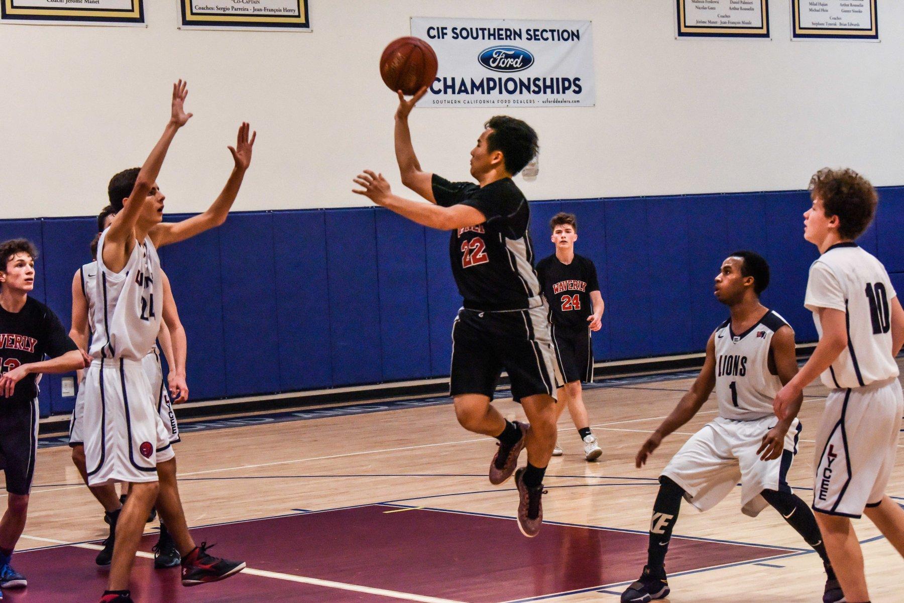 Sports HS boys basketball jump shot