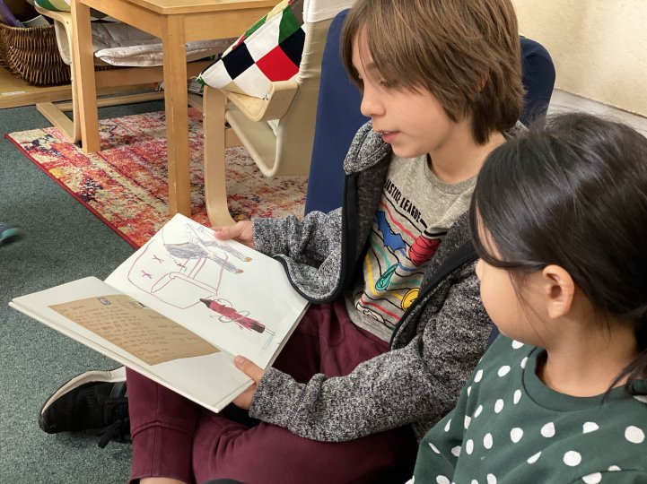 ES student reading buddies