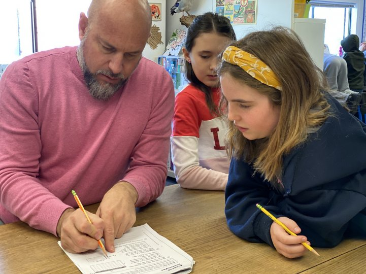 ES Kevin with students worksheet