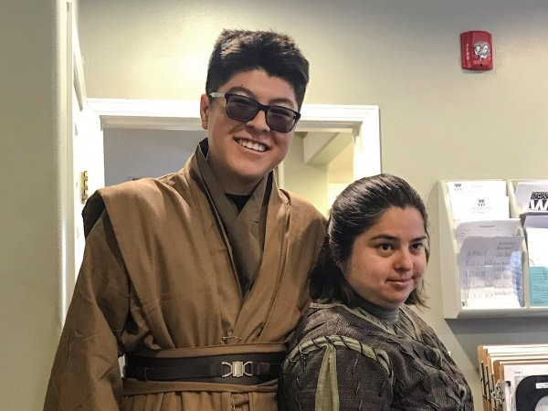 HS Yanndery and student Halloween costume