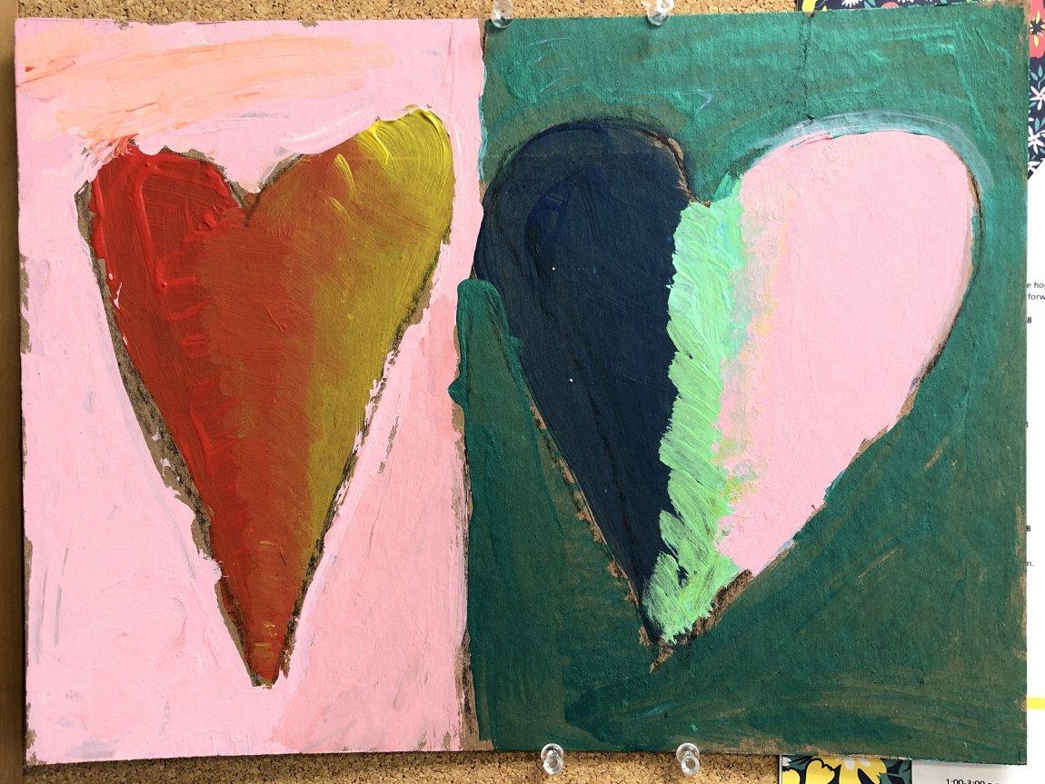 Hearts student artwork