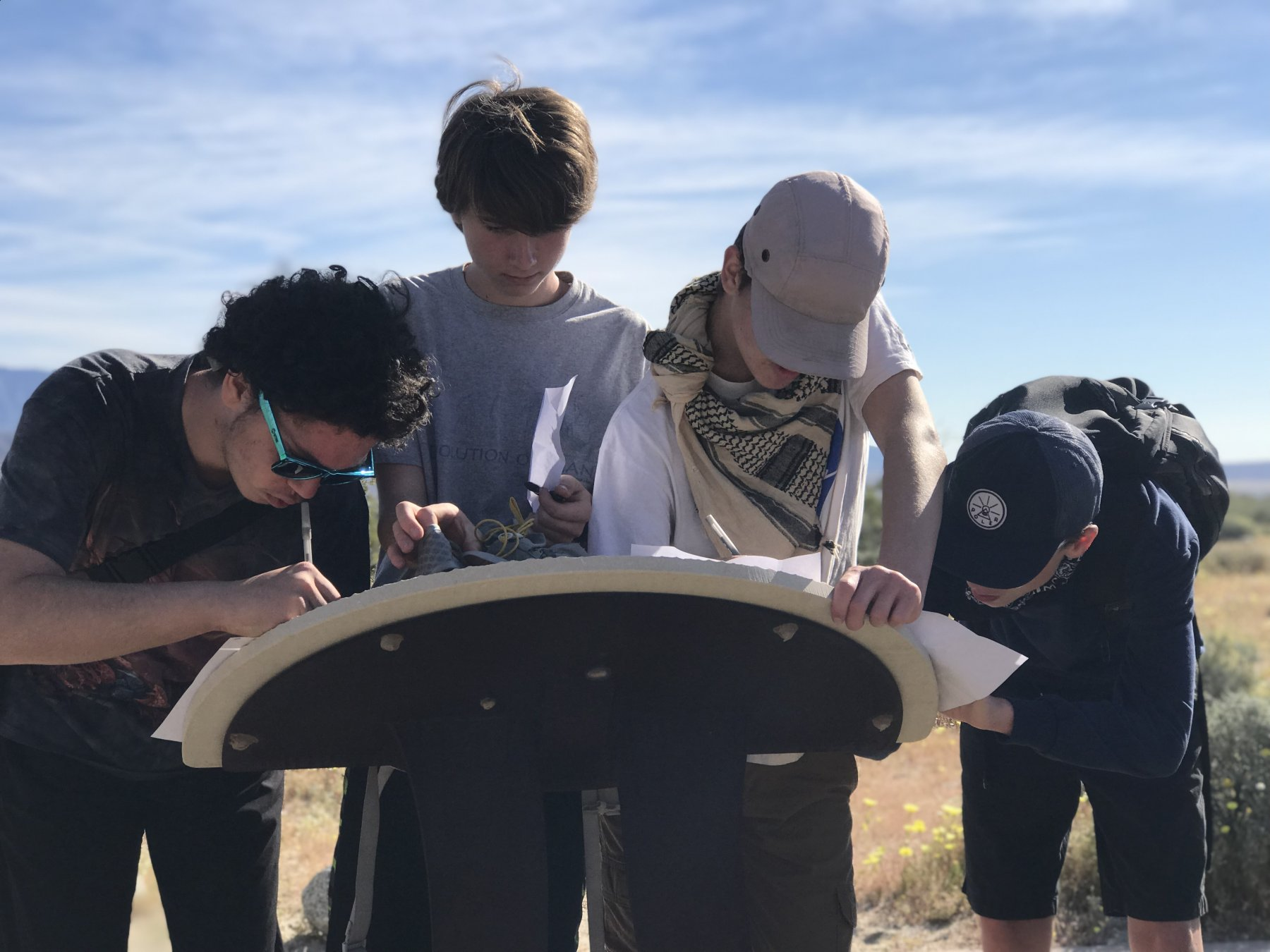 HS Students outdoor exploration