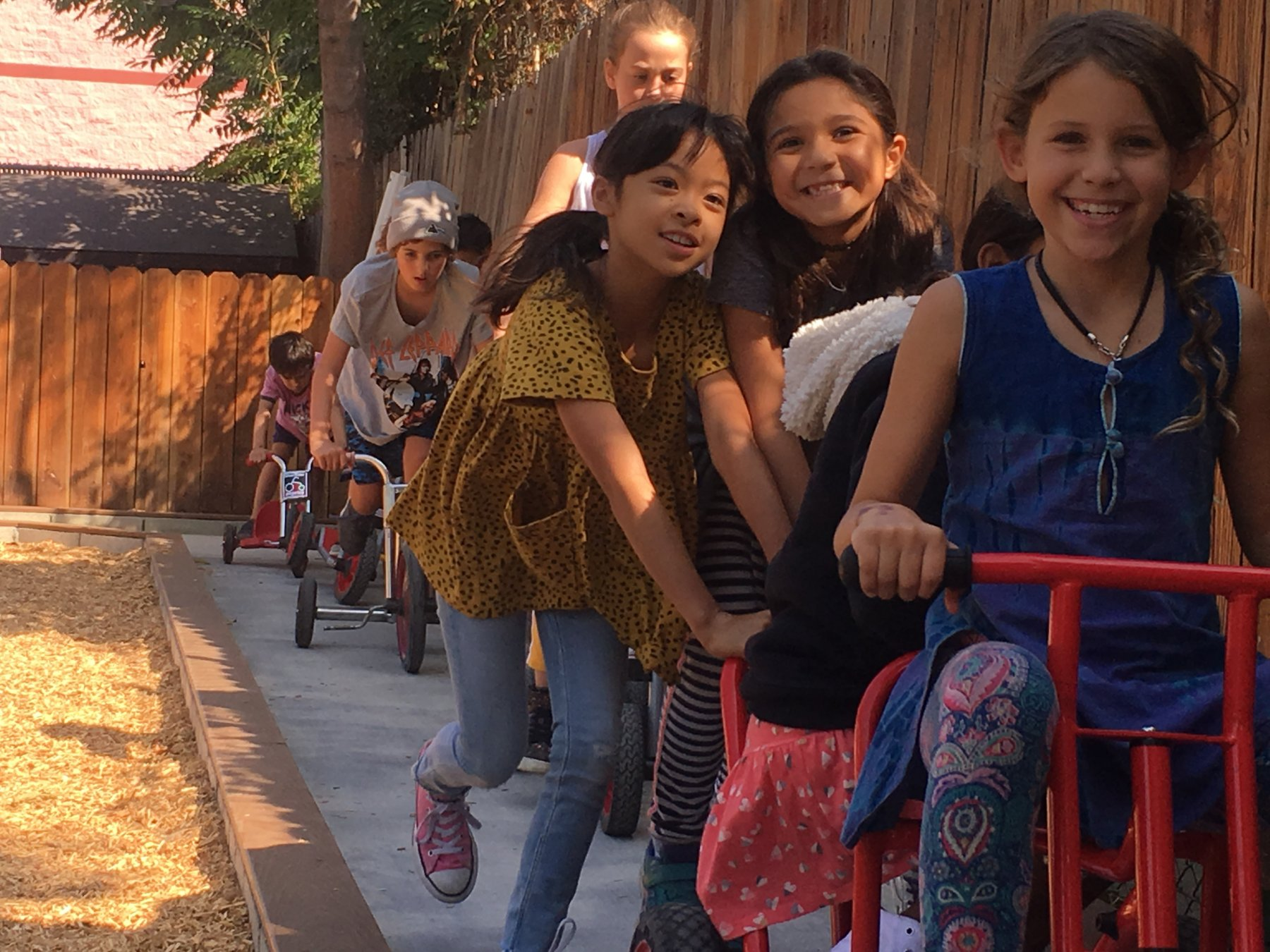 ES Kids on bike path