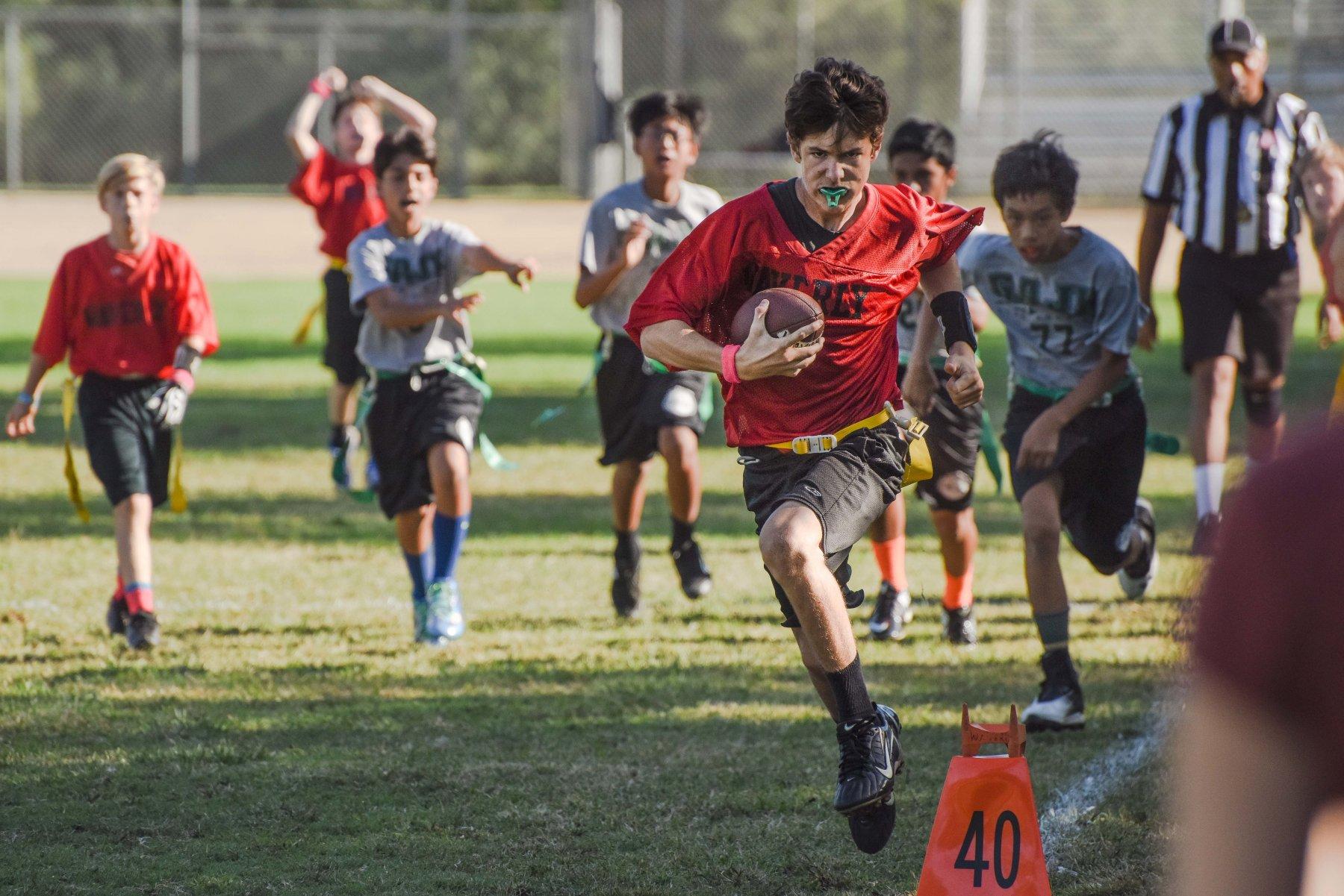 Sports MS flag football run